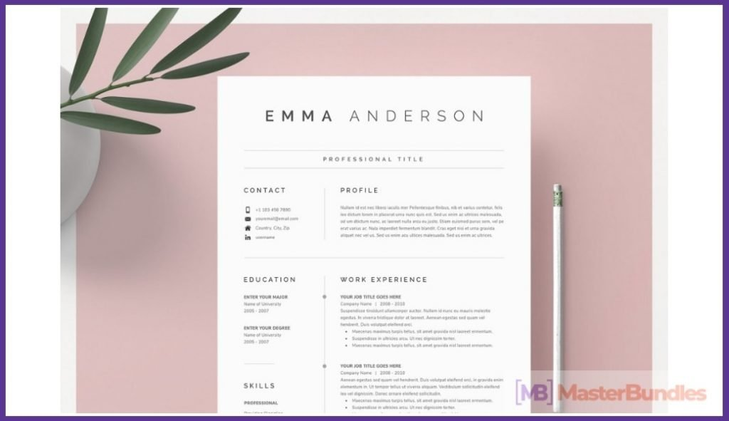 50+ Best Chronological Resume Templates in 2020: Free and Premium - chronological resume templates 28