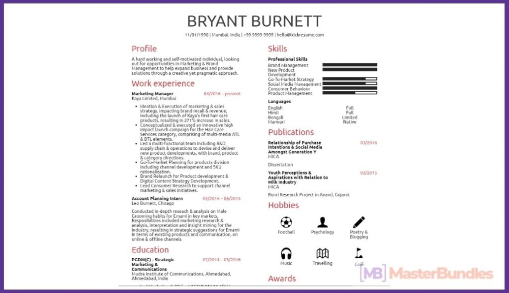 50+ Best Chronological Resume Templates in 2020: Free and Premium - chronological resume templates 30