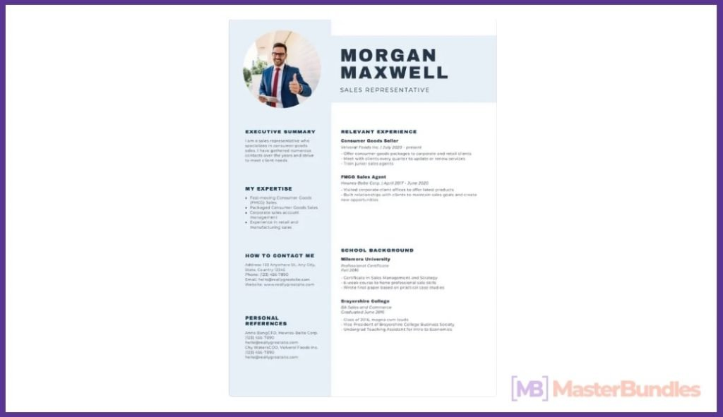 50+ Best Chronological Resume Templates in 2020: Free and Premium - chronological resume templates 45