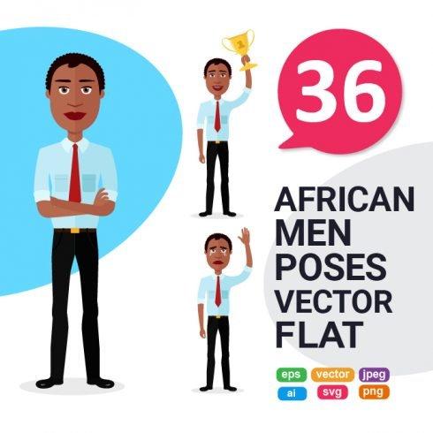 36 African American Man Clipart Vectors -  область 20 490x490