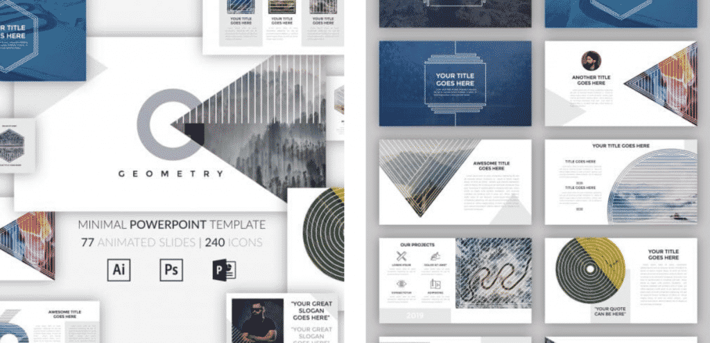 50 Creative PowerPoint Templates in 2020: Free And Premium. Best Creative Presentation Ideas - creative powerpoint templates 06