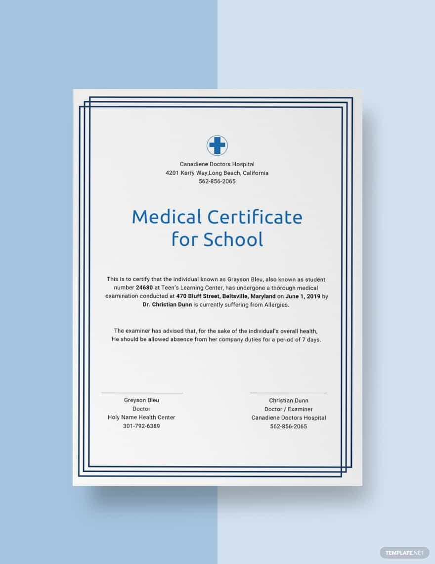45+ Best Doctor Note Templates and Certificates in 2020: Free and Premium - doctor note templates 12