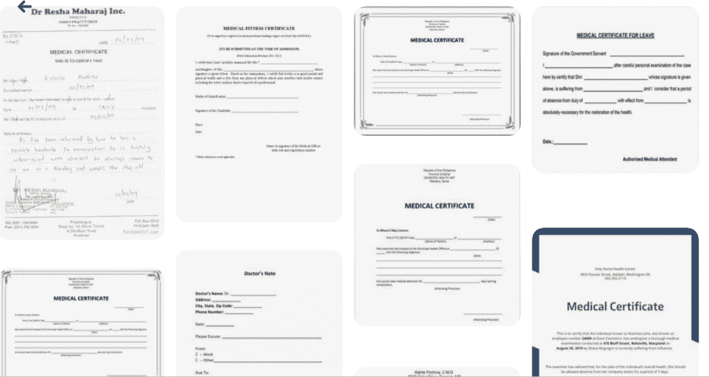 45+ Best Doctor Note Templates and Certificates in 2020: Free and Premium - doctor note templates 14