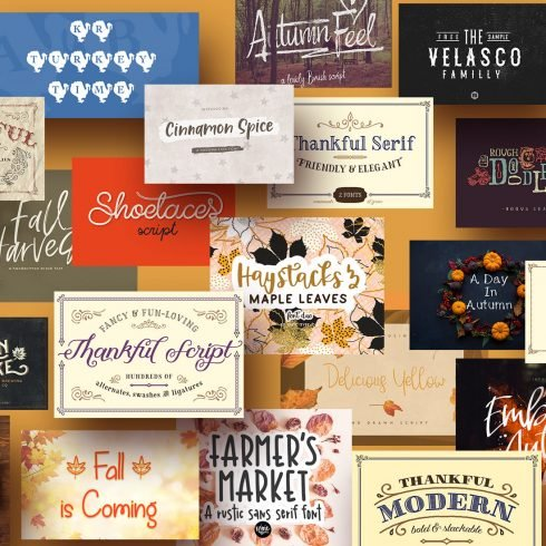 90+ Free Thanksgiving Fonts 2020 [Updated]