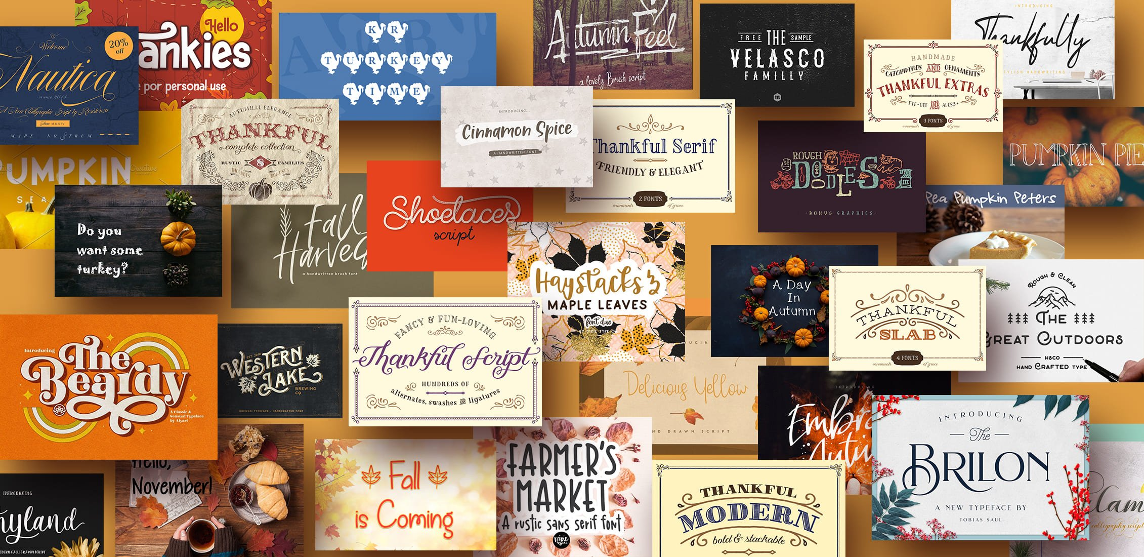 Examples Best Free Thanksgiving Fonts.