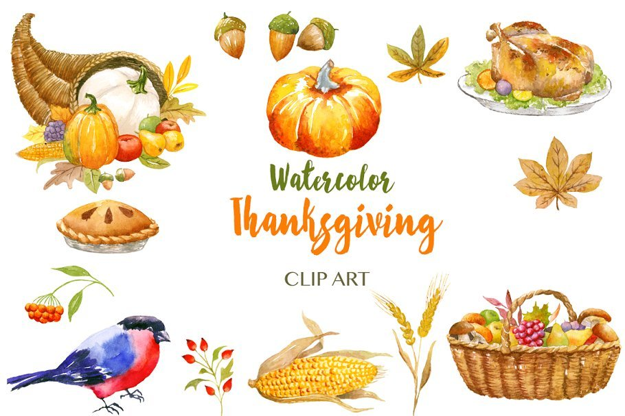 🦃 Thanksgiving Clipart In 2020: Tune Up Your Festive Mood - thanksgiving clipart 2020 03