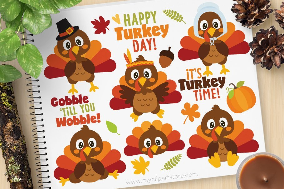 🦃 Thanksgiving Clipart In 2020: Tune Up Your Festive Mood - thanksgiving clipart 2020 06