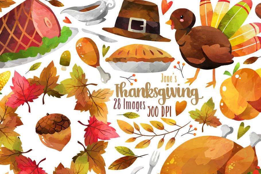 🦃 Thanksgiving Clipart In 2020: Tune Up Your Festive Mood - thanksgiving clipart 2020 07