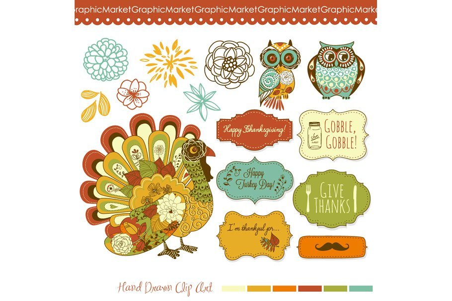 🦃 Thanksgiving Clipart In 2020: Tune Up Your Festive Mood - thanksgiving clipart 2020 08
