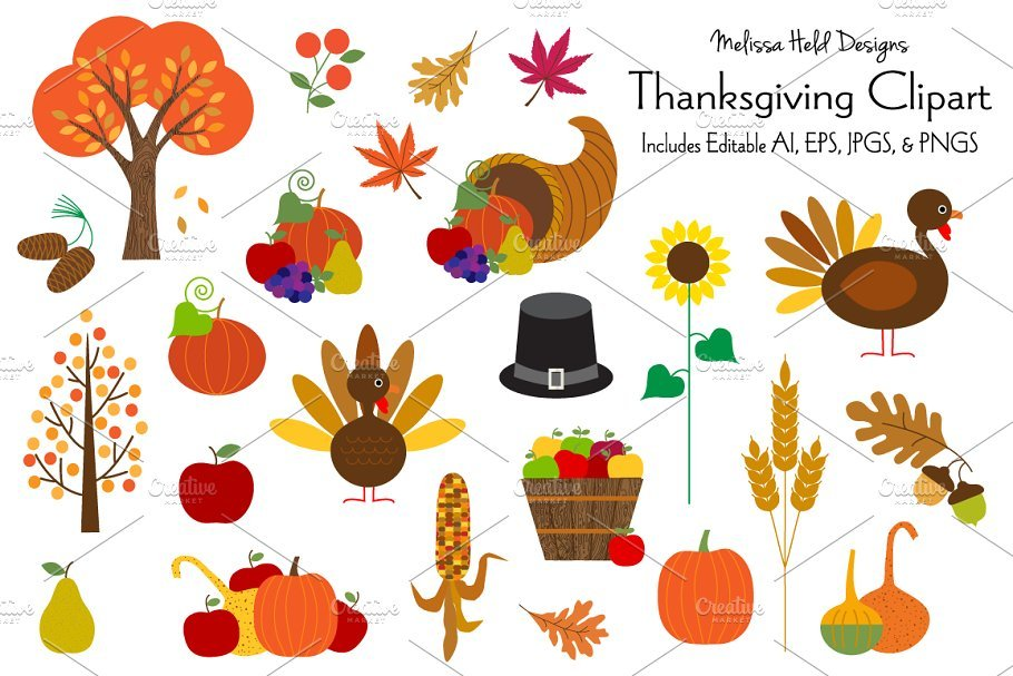 🦃 Thanksgiving Clipart In 2020: Tune Up Your Festive Mood - thanksgiving clipart 2020 09