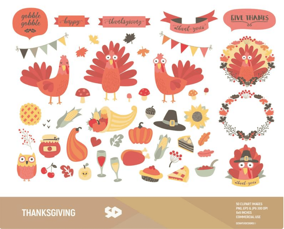 🦃 Thanksgiving Clipart In 2020: Tune Up Your Festive Mood - thanksgiving clipart 2020 14
