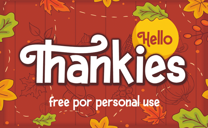 60+ Free Thanksgiving Fonts 2020 [Updated] - thanksgiving fonts 2020 14