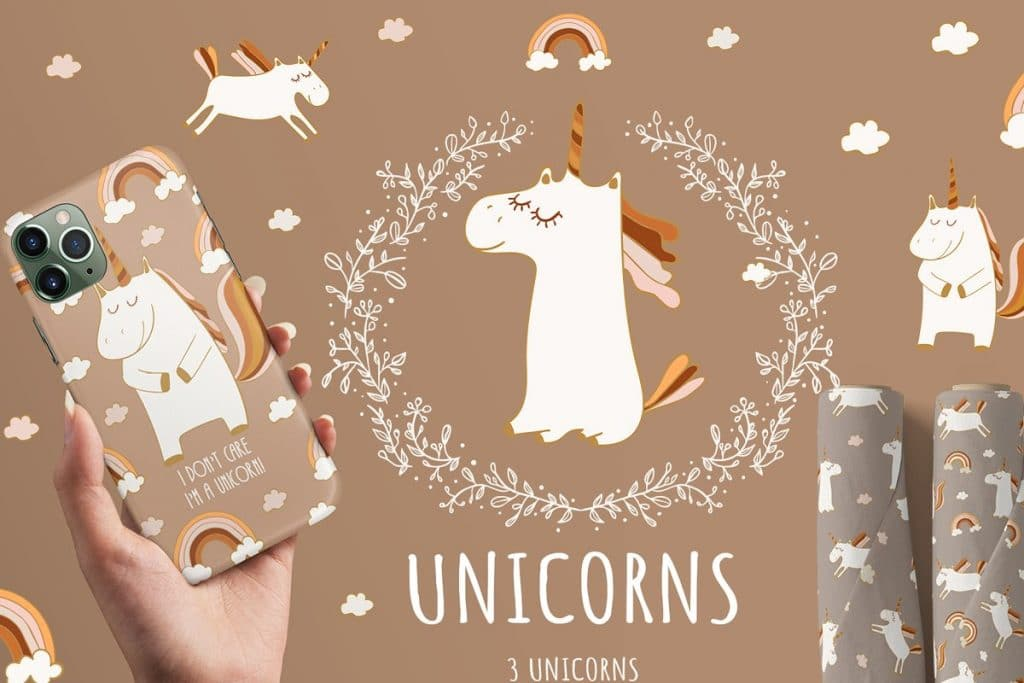 50+ Best Unicorn Background & Patterns in 2020: Free And Premium - unicorn backgrounds patterns 2020 03