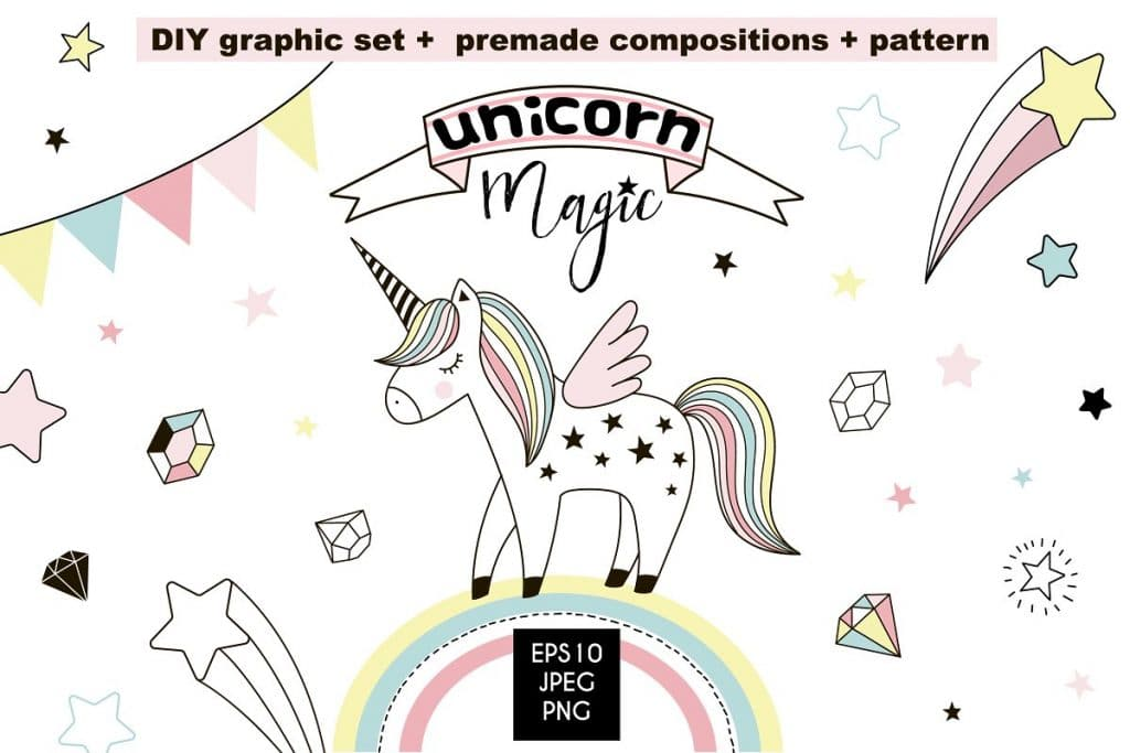 50+ Best Unicorn Background & Patterns in 2020: Free And Premium - unicorn backgrounds patterns 2020 04