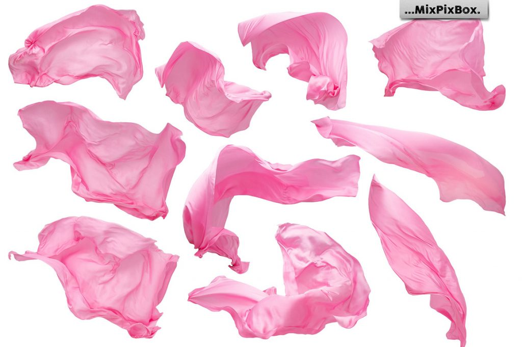 45 Pink Fabric Overlays PNG - 3 1