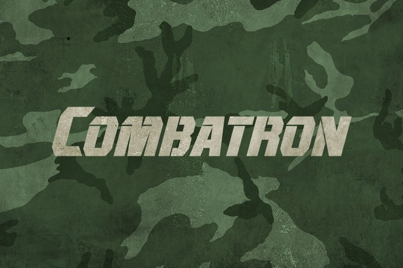 10 Best Military Fonts - Add Military Vibe to Your Project - Combatron Font