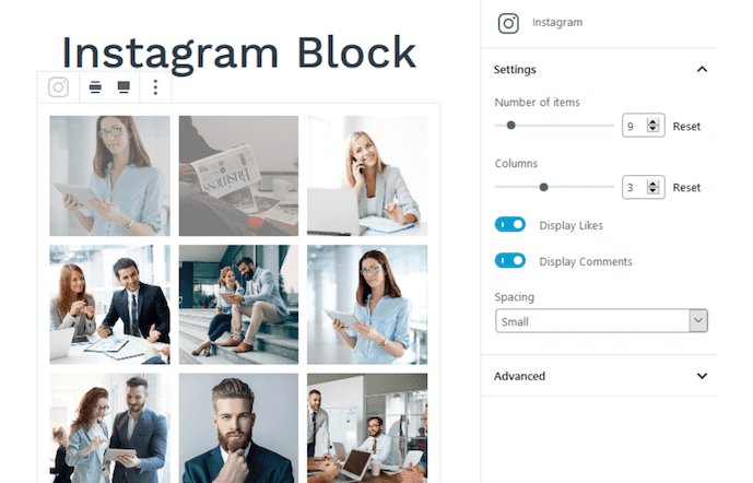 Instagram blocks.
