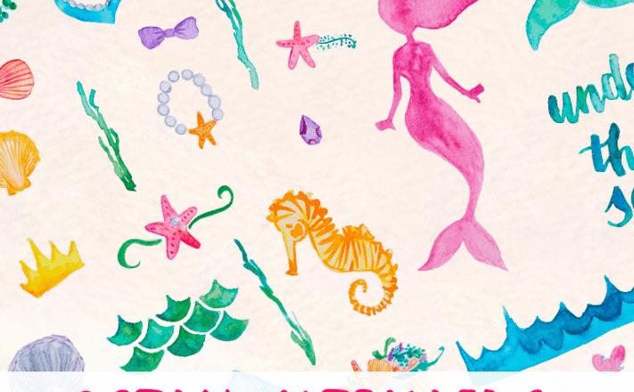 50+ Handpicked Mermaid Clipart 2020: Mermaid Tail Clipart, Vectors, Watercolors - Ocean Mermaid Illustration