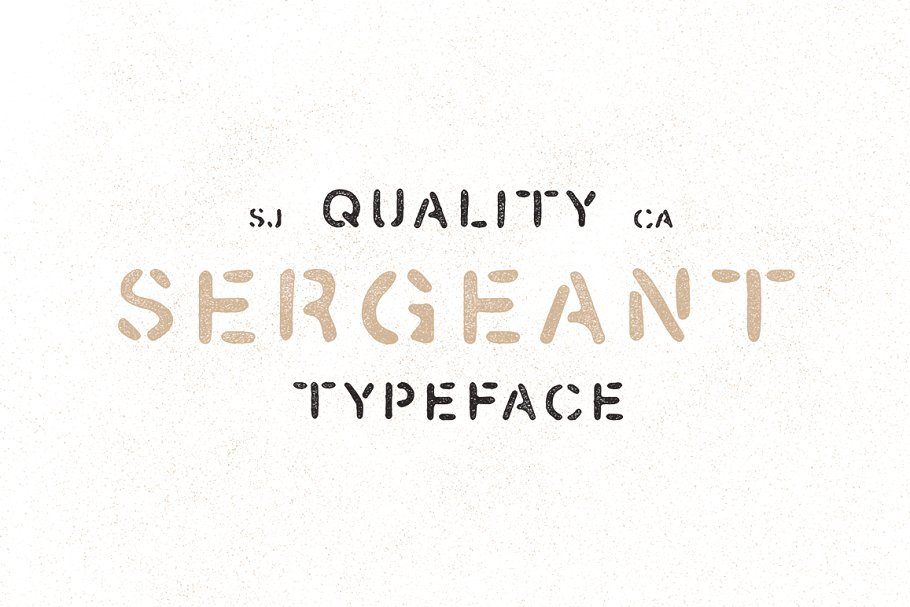 10 Best Military Fonts - Add Military Vibe to Your Project - Sergeant Hand Drawn Stencil Font