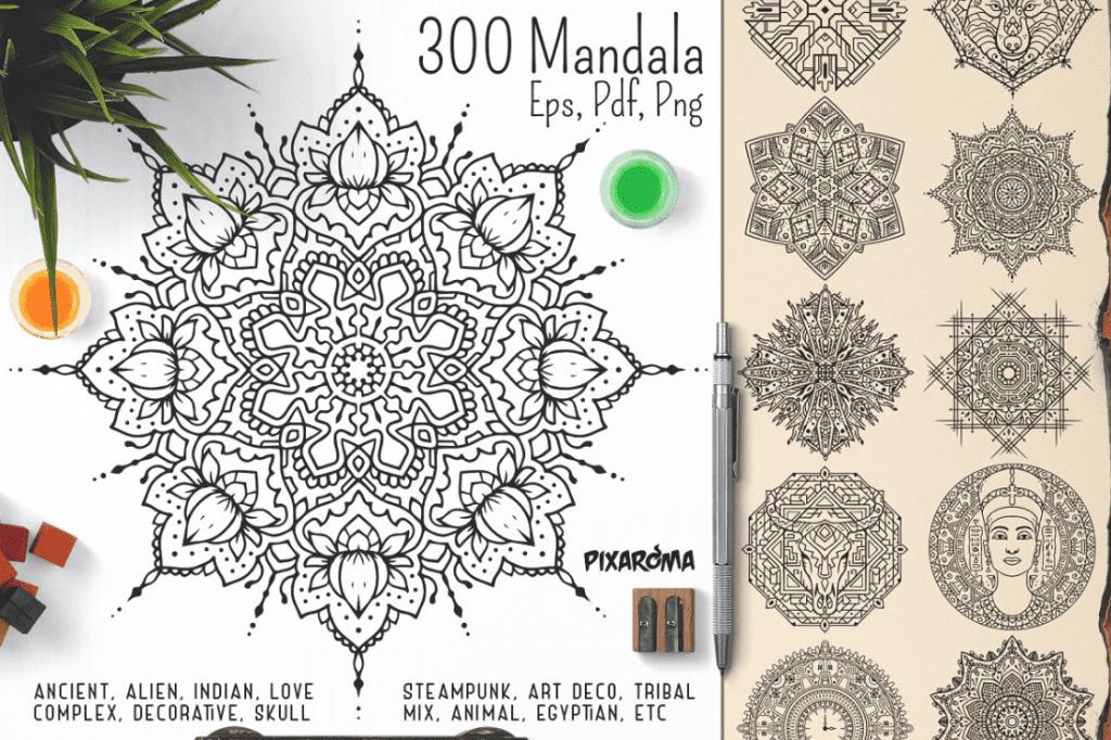 Mandala Designs in 2020: Illustrations, Patterns, Trends. Mandala Creator Online and Free Simple - best mandala patterns 2020 02