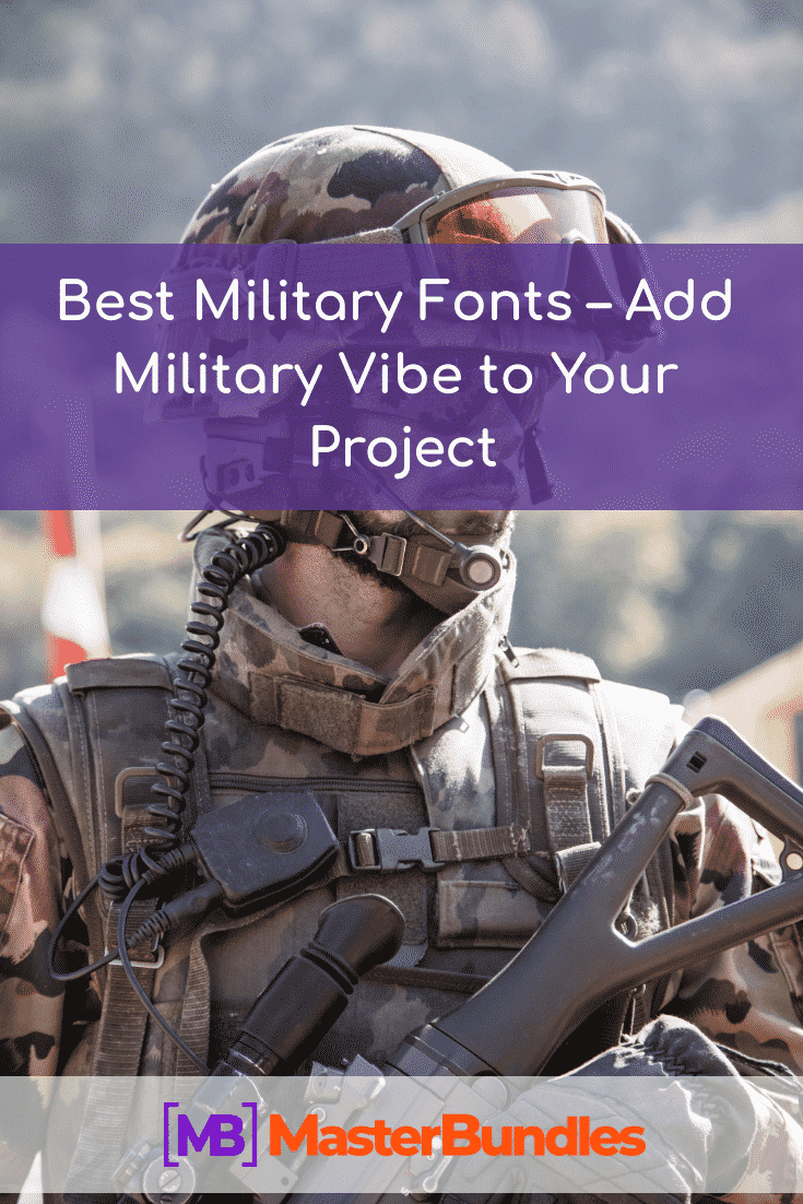 Best Military Fonts. Pinterest Image.