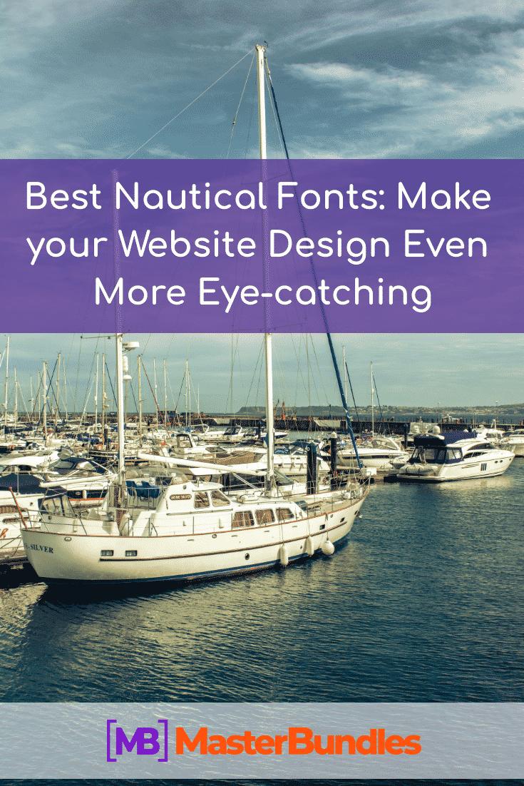 Best Nautical Fonts. Pinterest Image.