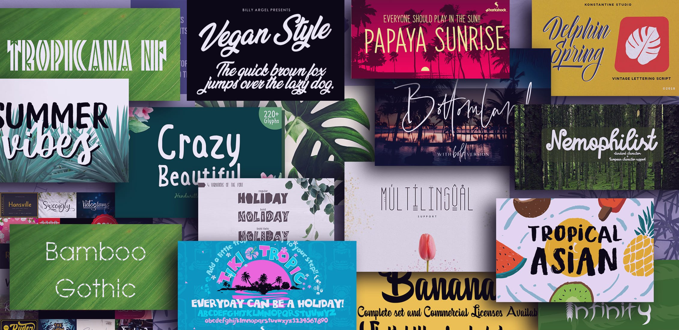 Examples Best Tropical Fonts.