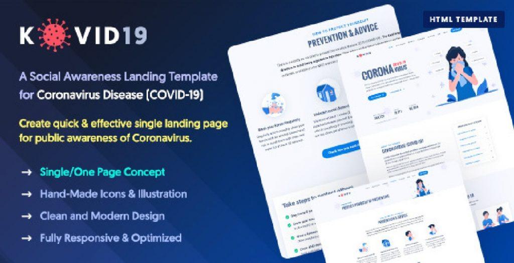 🦠10+ Coronavirus (COVID-19) Website Templates In 2020 - coronavirus website templates 03