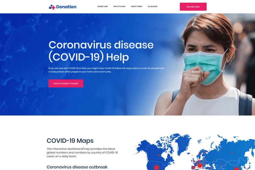 🦠10+ Coronavirus (COVID-19) Website Templates In 2020 - coronavirus website templates 06