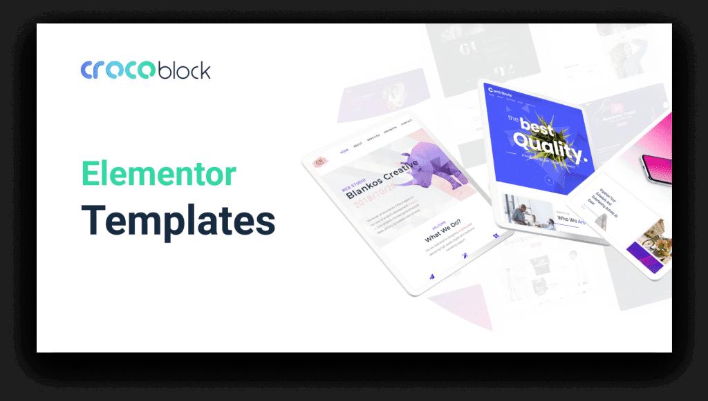 Elementor site templates