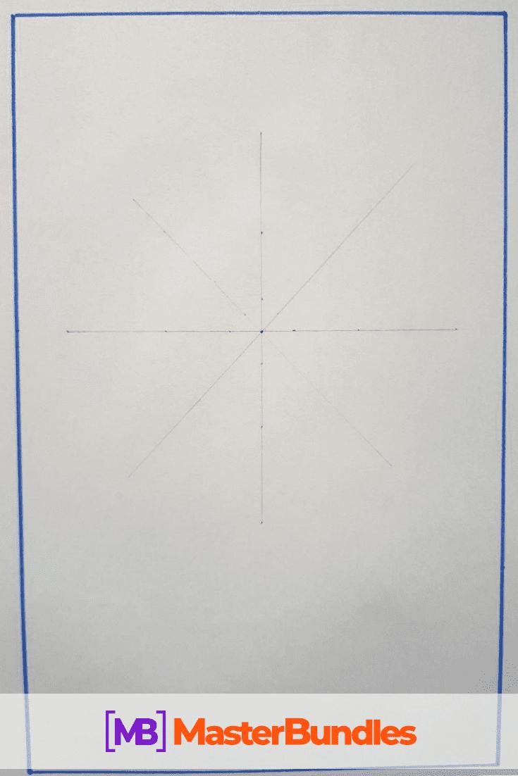 How to Draw a Mandala. Step 1.