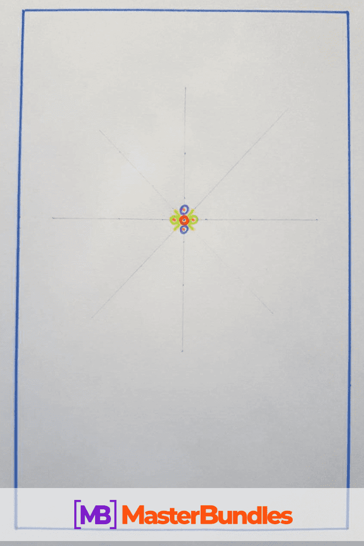 How to Draw a Mandala. Step 2.