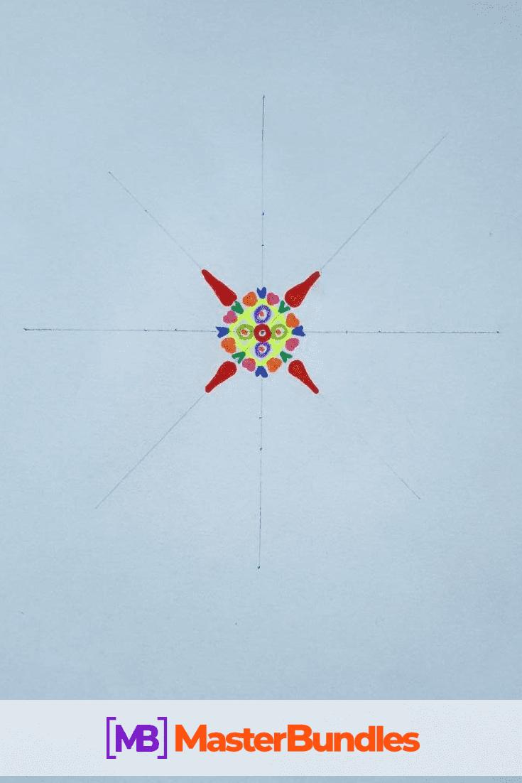 How to Draw a Mandala. Step 3.