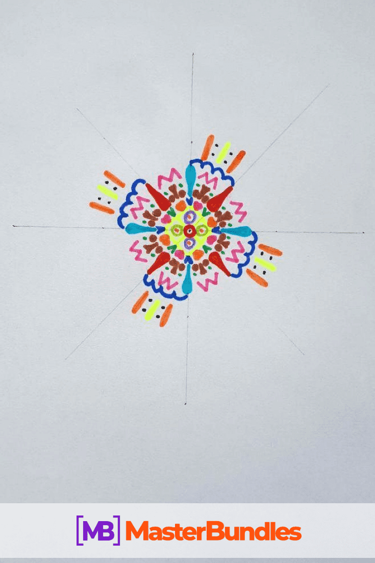 How to Draw a Mandala. Step 4.