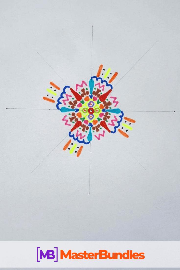 How to Draw a Mandala. Step 4.