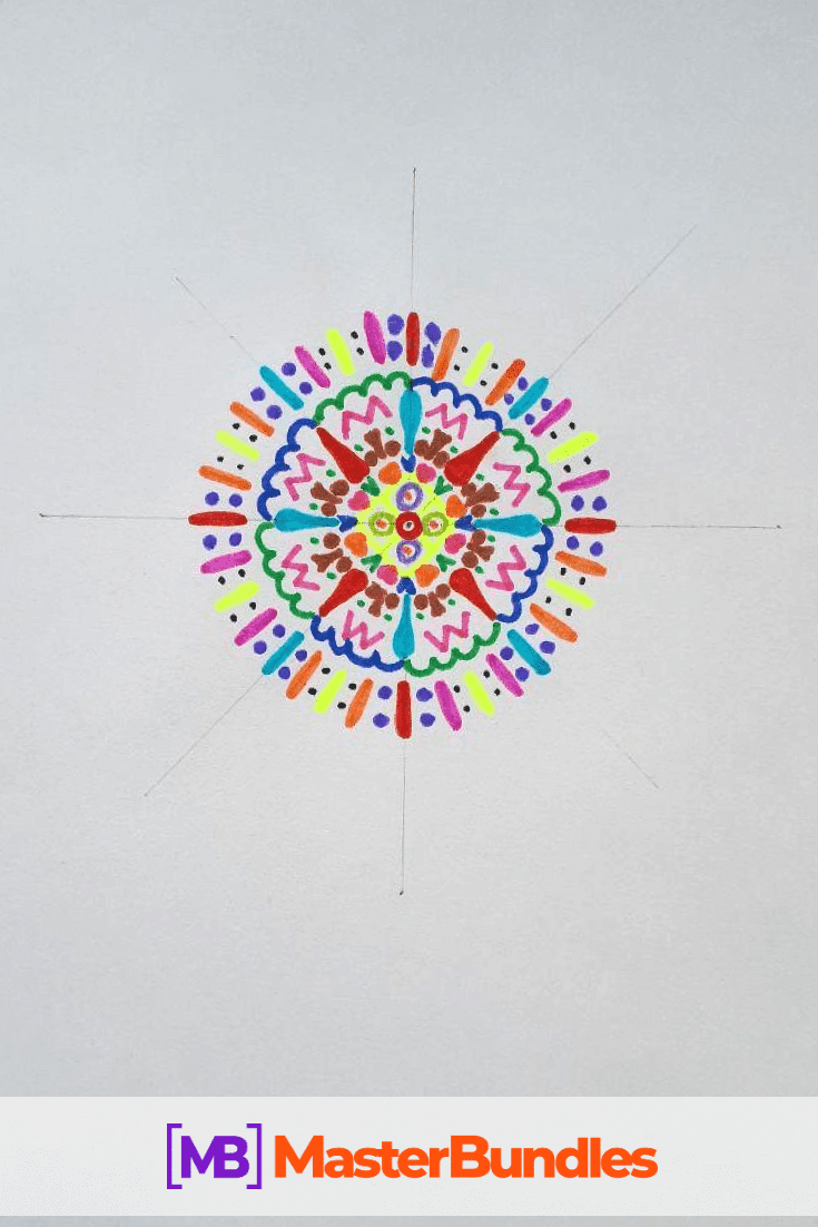 How to Draw a Mandala. Step 5.