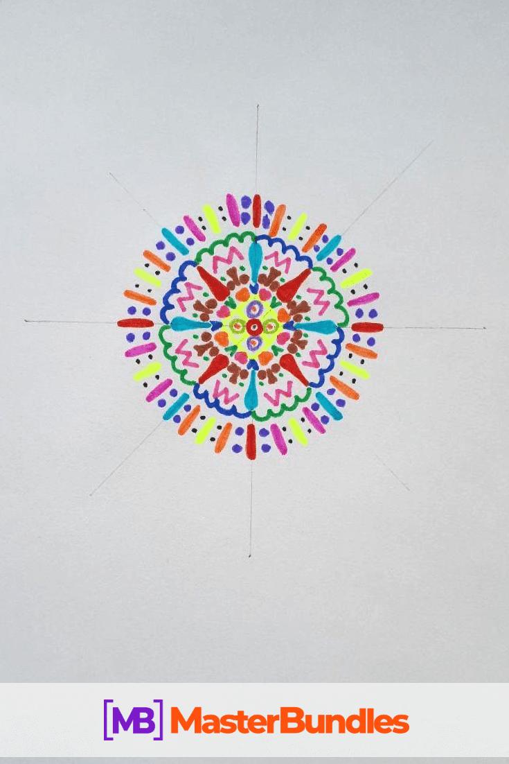 How to Draw a Mandala. Step 5.