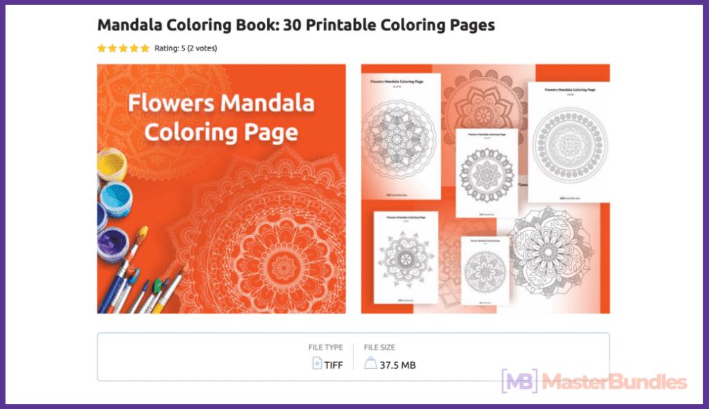 Mandala Coloring Book: 30 Printable Coloring Pages.
