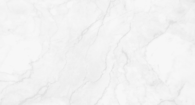 White marble background with natural grey blur and deep grey veins.