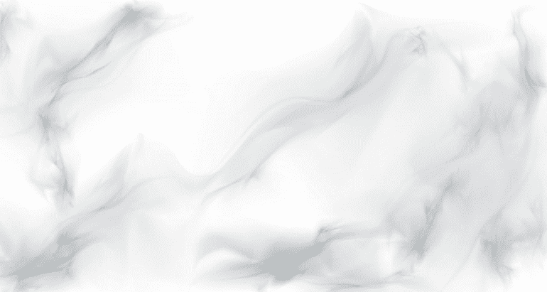 White marble background with large grey blurred marks.