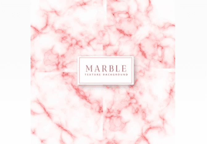 Marble texture of white color with blurring of different shades of pink.