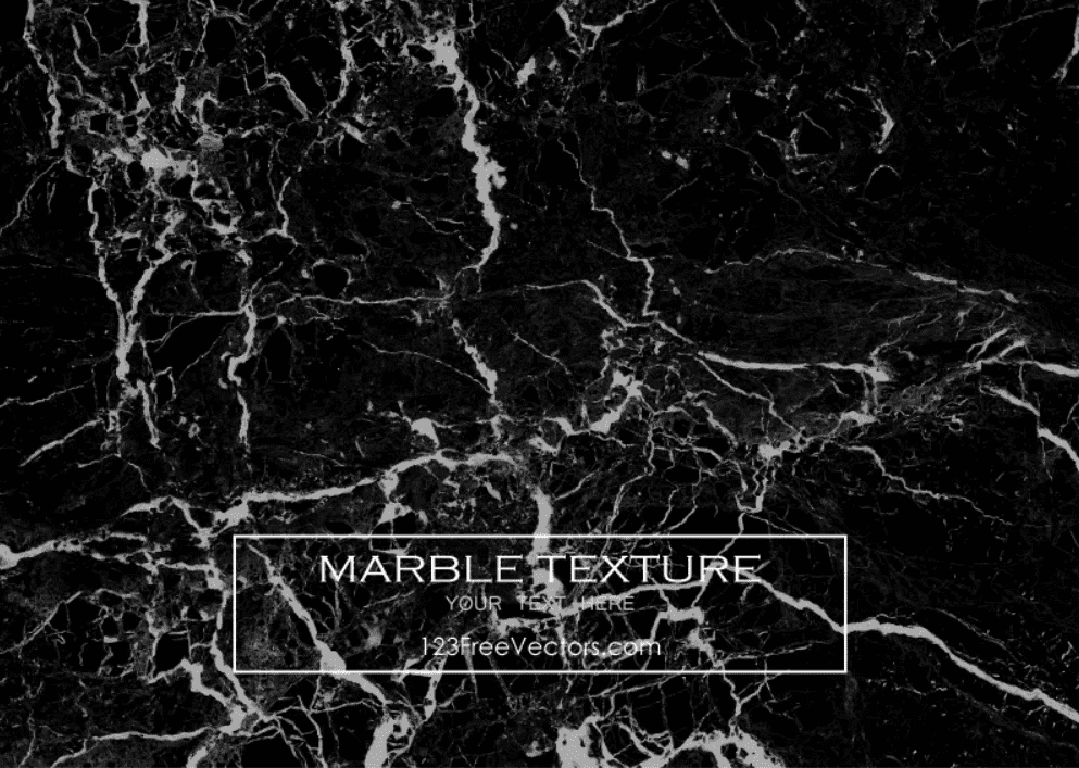 Rich black marble background with small white veins.