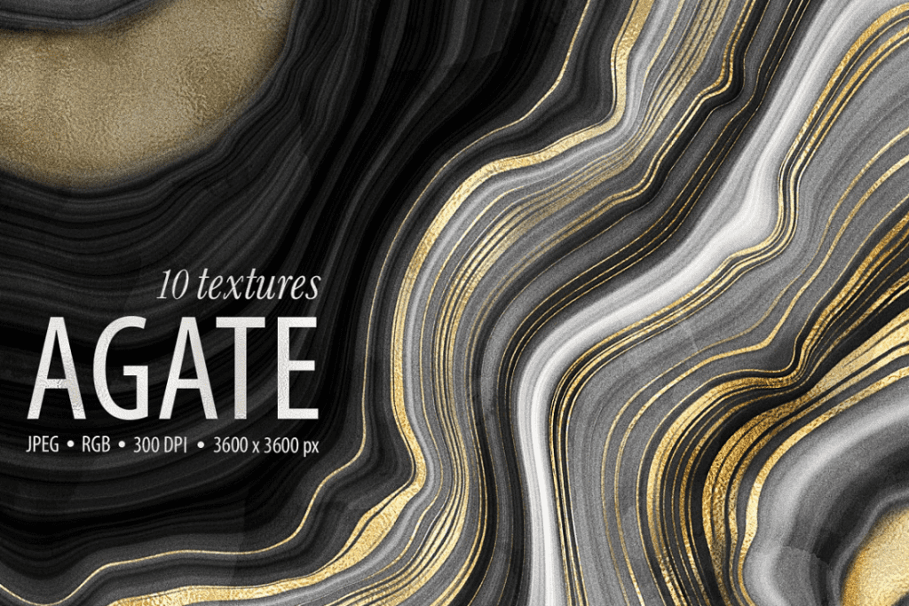 Marble texture from dark and gray blotchiness to white and gold, which fall in layers.