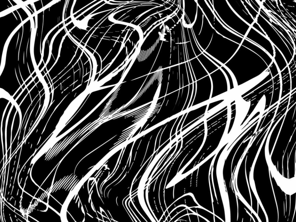 Expressive marble background in black and white with slightly patchy white lines.