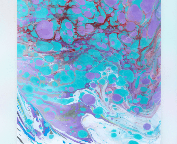 Bright marble background, which combines bright blue, purple and red color shades.