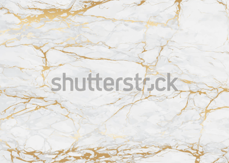 Marble background of grayish white with a few golden veins.