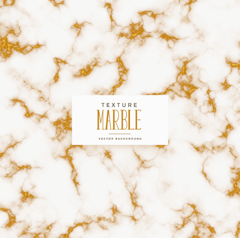 Natural white marble color combined with a lot of bright gold blotchiness of small size.