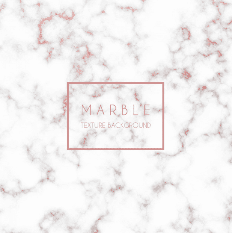 White marble background with pink blurred veins at the upper, and grayer-pink to the lower.