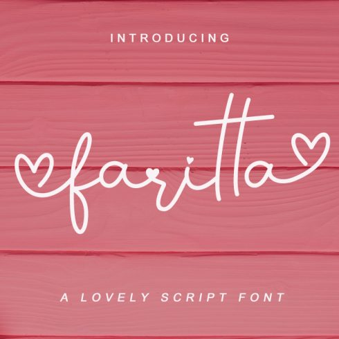 Gietta Handlettered Calligraphy Font - Faritta Preview 490x490