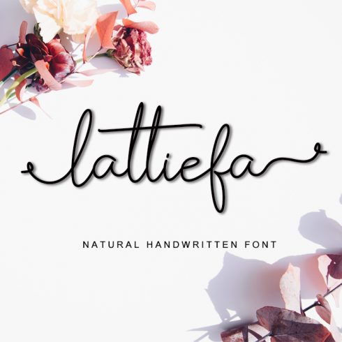 Gietta Handlettered Calligraphy Font - Lattiefa Preview 490x490